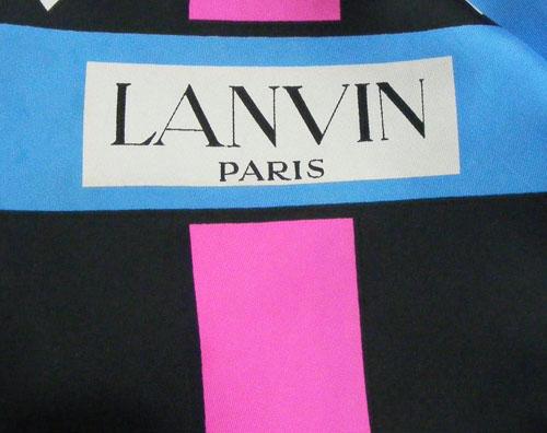 1960s Lanvin Silk Scarf