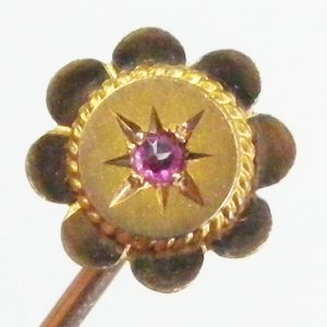 Antique 9ct Gold Flower Stick Pin