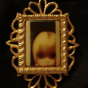 Sidney Mobell Margaret Keane collaboration brooch.