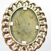 Antique Aventurine Gold Chain Pendant1