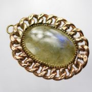 Antique Aventurine Gold Chain Pendant5