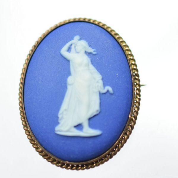 Antique Wedgwood Brooch Goddess