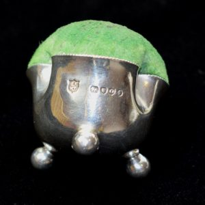 Antique Shamrock Silver Pin Cushion1