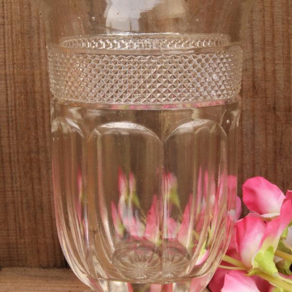 Celery Vase in Clear Pressed Glass