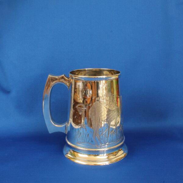 Camel Silver Plated Beer Mug